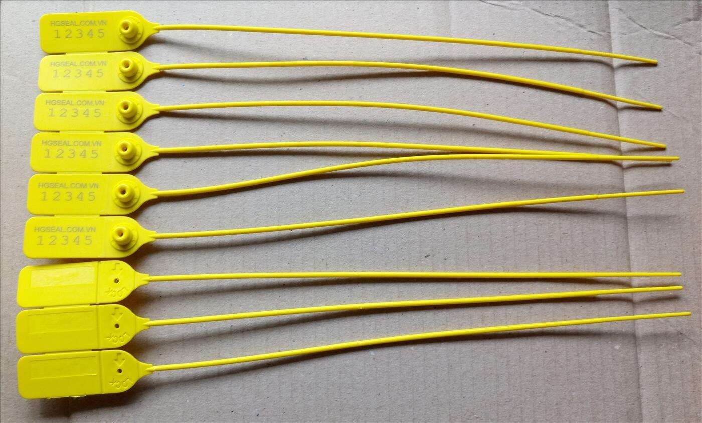 Seal dây rút tròn khóa kim loại 35cm