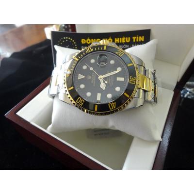 Đồng hồ nam tự động Rolex Submariner Date 43mm black semi gold