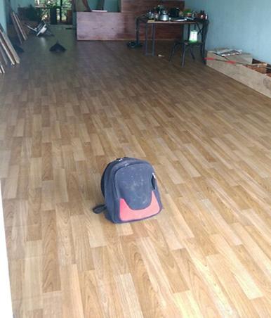 Simili trải sàn sau khi được thi công