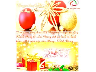 SK Projector gửi lời chúc mừng giáng sinh và năm mới tới Quý khách hàng