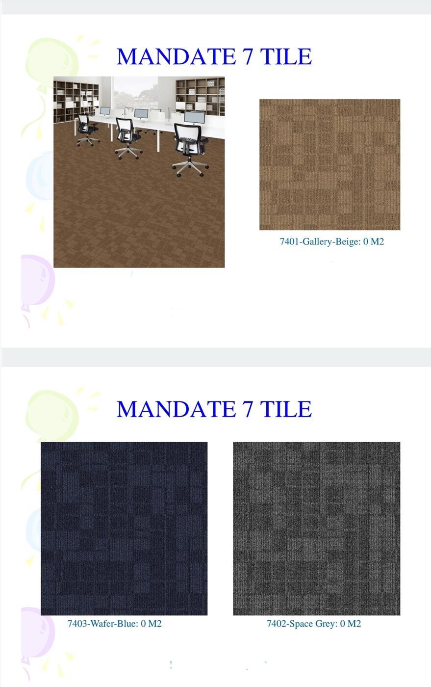 Thảm gạch Mandate 7, Mandate 8