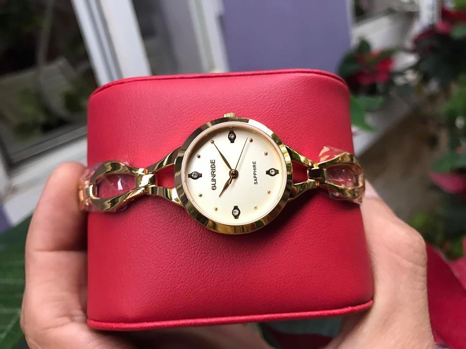 đồng hồ lắc nữ sunrise sl720swa - kv chính hãng
