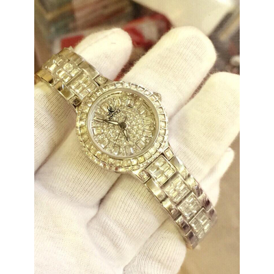 Smays A1140 Ladies bracelet watches genuine 18K white dial diamond