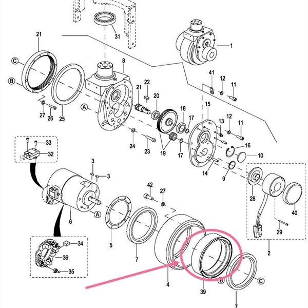 Sơ đồ tháo bánh xe nâng điện Heli Hangcha EP
