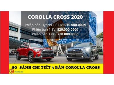 So sánh chi tiết 3 bản Toyota Corolla Cross 2021 đang bán tại Việt Nam