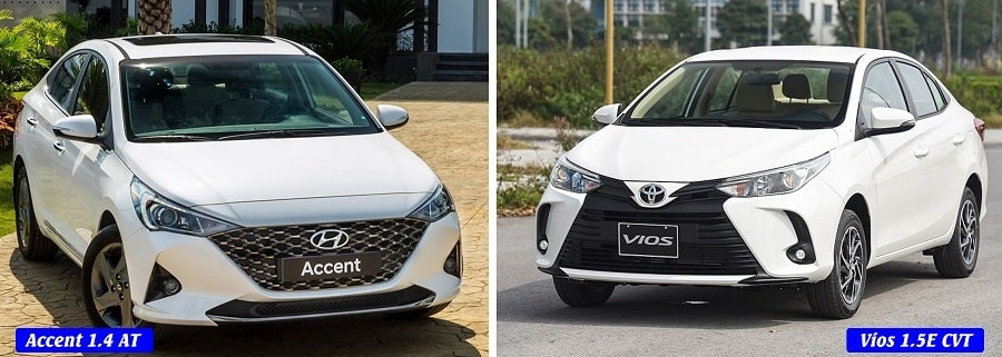 So sánh đánh giá Hyundai Accent 1.4AT đặc biệt và Toyota Vios E CVT