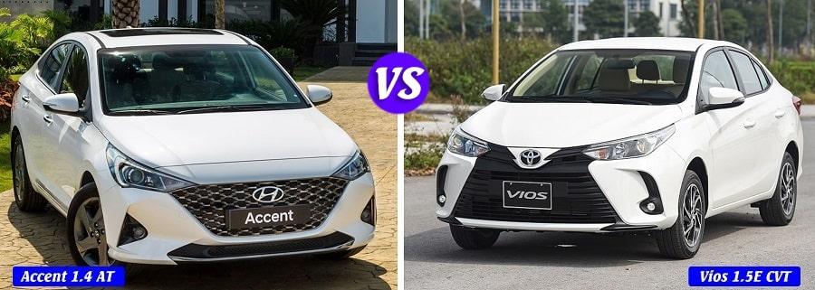 Chọn Hyundai Accent 1.4 AT đặc biệt hay Toyota Vios E CVT bản tự động
