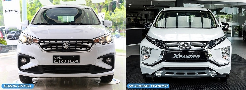 So sánh đầu xe Mitsubishi Xpander và Suzuki Ertiga-min