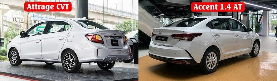 So sánh Hyundai Accent 1.4 AT và Mitsubishi Attrage CVT Premium