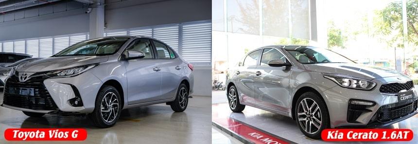 So sánh ngoại thất Kia Cerato 1.6 luxury và Toyota Vios