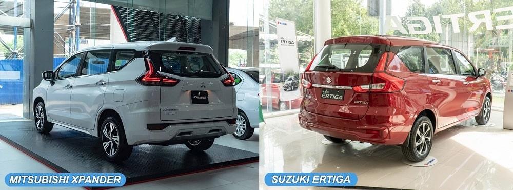 So sánh ngoại thất xe Mitsubishi Xpander và Suzuki Ertiga