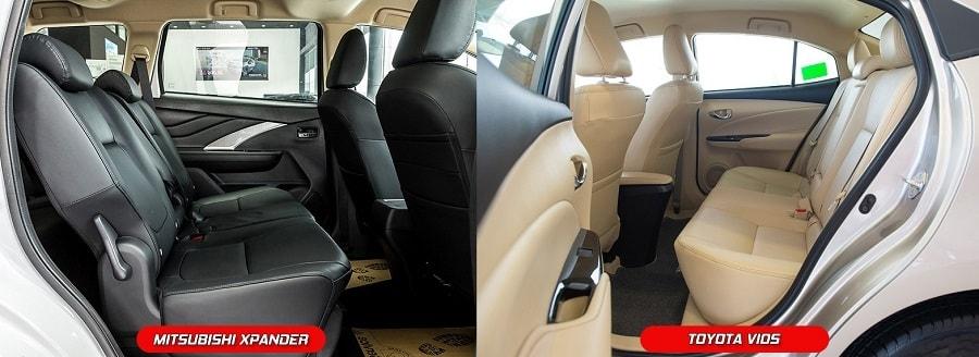 So sánh nội thất xe ô tô Toyota Vios và Mitsubishi XPander
