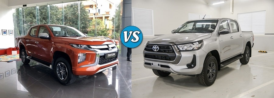 So sánh Toyota Hilux 2.4E và Mitsubishi Triton 2.4 AT 4x2-min