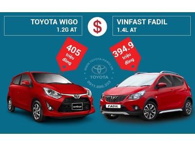 So sánh Toyota Wigo 1.2G AT và VinFast Fadil 1.4L AT: Nên chọn xe nào?