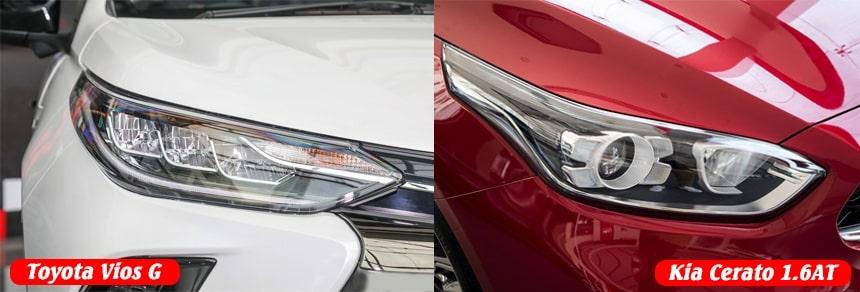 So sánh trang bị VIos G và Cerato bản Luxury 1.6AT