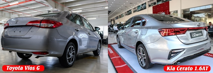 So sánh Vios 1.5G và Kia Ceraro bản 1.6 Luxury
