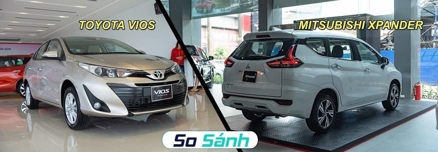So sánh xe 5 chỗ Toyota Vios và xe 7 chỗ Mitsubishi Xpander