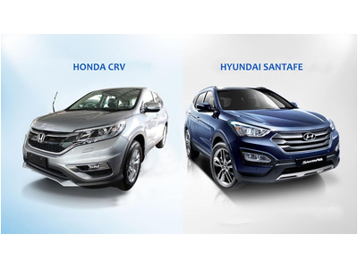 So sánh xe Santafe và CR-V