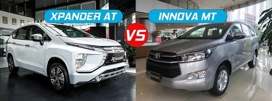 So sánh xe Toyota innova E và Mitsubishi Xpander AT