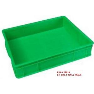 Sóng nhựa công nghiệp HS006 530x430x110mm