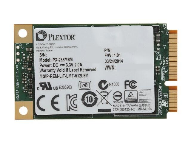 Plextor M6M mSATA 64GB SSD -M-SATA - cho macbook Air, Dell XPS...