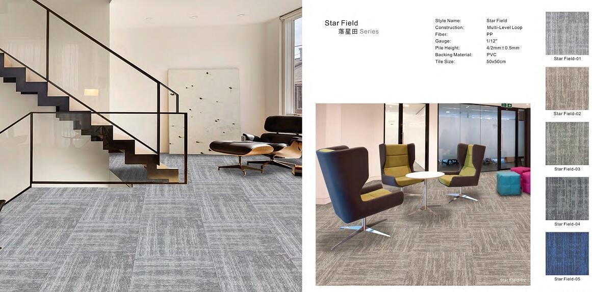 Thảm viên trải sàn Star field carpet