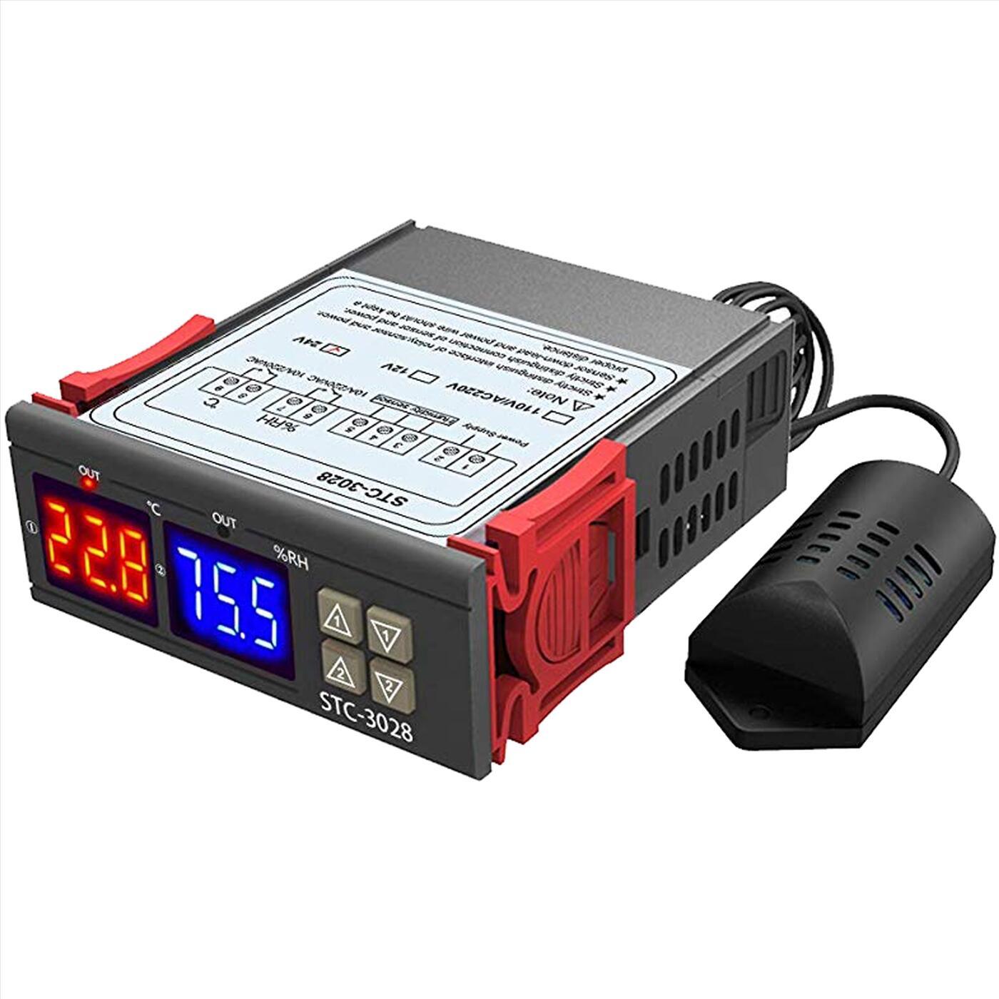 Bộ điều khiển theo nhiệt độ, độ ẩm STC-3028 220V AC
