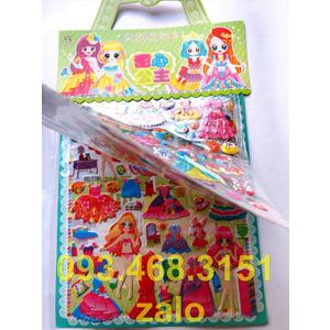Sticker dán váy công chúa