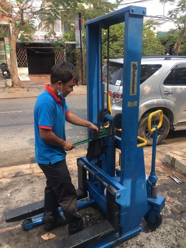 Sửa xe nâng tay cao tại Long an