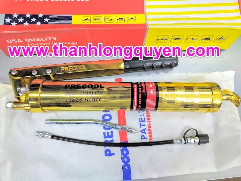 Súng bơm mỡ precool 600cc 2 xy lanh T0828
