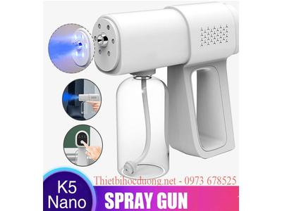 Máy phun dung dịch khử khuẩn tự động Cầm tay K5, có đèn UV , có pin sạc dùng cho quán ăn, shipper, cửa hàng thực phẩm giá rẻ