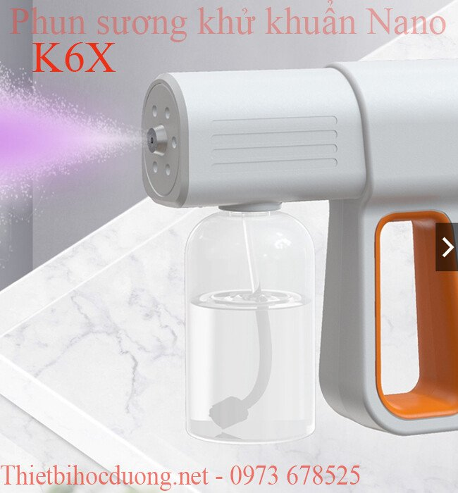 Máy Xịt Khử Trùng, khử khuẩn Nano K6X tự động