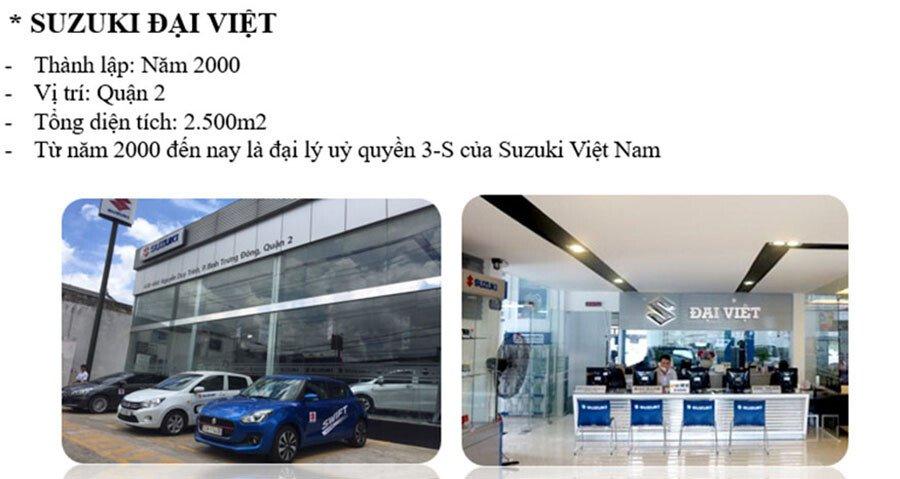 Suzuki Đại Việt - chi nhánh thứ 2 của công ty Suzuki Việt Long tọa lạc tại Quận 2