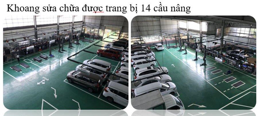 Xưởng dịch vụ sửa chữa của Showroom ô tô Suzuki Việt Long