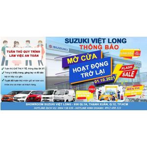 Suzuki Việt Long sẽ hoạt động trở lại vào ngày 01/10/2021 sau thời gian dài nghỉ phòng chống dịch Covid-19