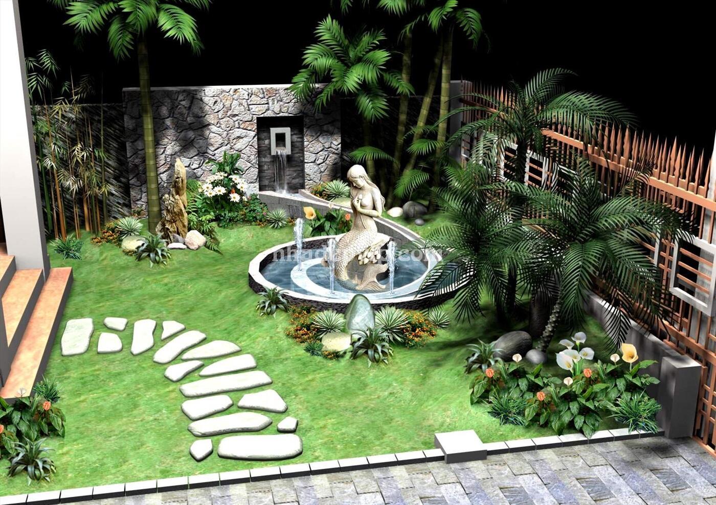 Tiểu cảnh sân vườn mẫu SV03
