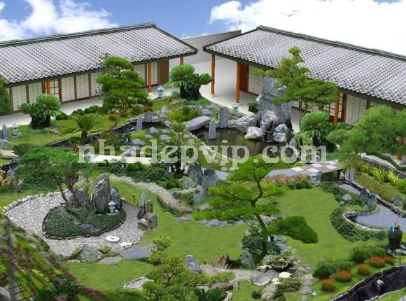 Tiểu cảnh sân vườn mẫu SV08