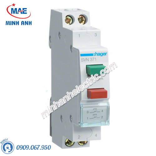 Timer 24h Hager - Model SVN371 dòng Push Button