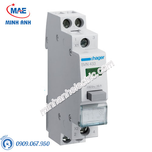 Timer 24h Hager - Model SVN433 dòng Push Button