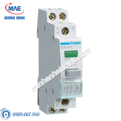 Timer 24h Hager - Model SVN441 dòng Push Button