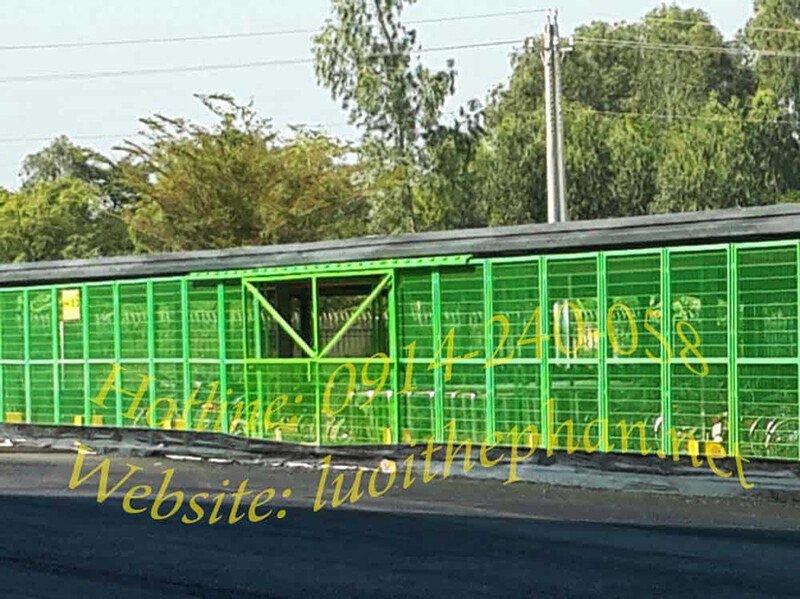 Hàng rào lưới thép sơn tĩnh điện dùng trong nhà