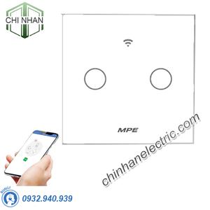 Công Tắc Đôi Cảm Ứng / WIFI (Mặt Vuông) - SWV2/SC - MPE