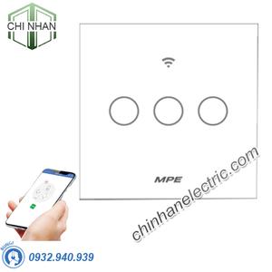 Công Tắc 3 Cảm Ứng / WIFI (Mặt Vuông) - SWV3/SC - MPE