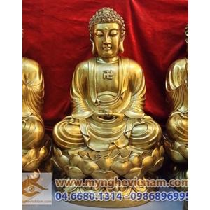 Tượng Phật Thích Ca bằng đồng, tuong phat tho cung, duc tuong phat ngoi dai sen
