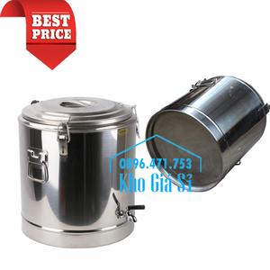 Thùng inox giữ nhiệt 20 lít có vòi đựng nước sôi
