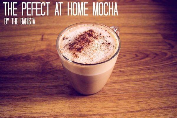 Một tách cafe moka tự làm tại nhà hoàn hảo