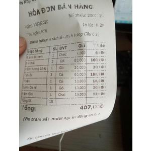 Tại sao máy in hóa đơn nhiệt in bị mờ chữ, mất nét?