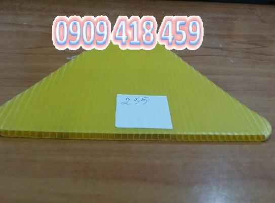 Tấm nhựa pp danpla màu vàng
