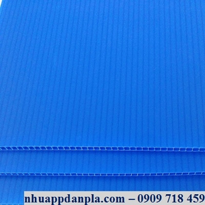 Tấm nhựa pp màu xanh dương