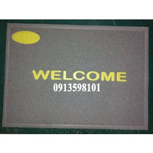 Thảm nhựa lau chân Welcome